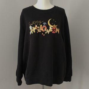 Holiday Editions Happy Halloween Sweatshirt Large